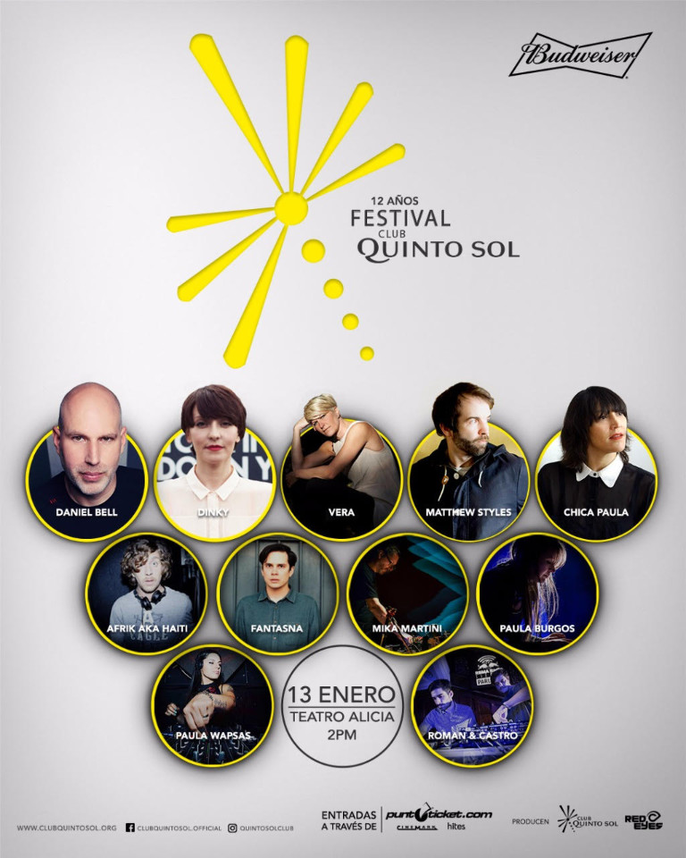 Artists FESTIVAL CLUB QUINTO SOL CHILE 2018